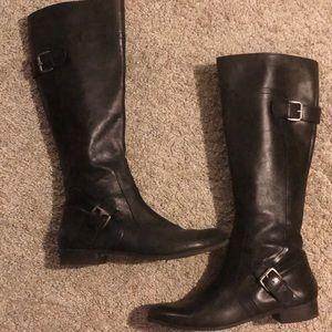 EUC Nine West Leather Riding Boots